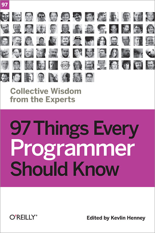 "Knygos ""97 things every programmer should know"" viršelis"